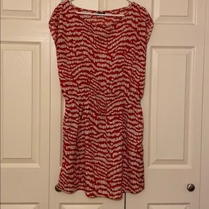 Red and cream zebra Patterned Dress